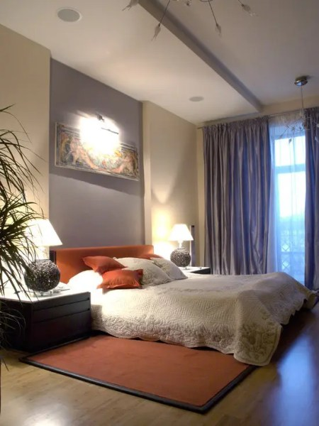 sunset orange for accent wall bedroom Orange Accents In Bedrooms – 68 Stylish Ideas - DigsDigs