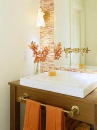 50 Cool Orange Bathroom Design Ideas - DigsDigs