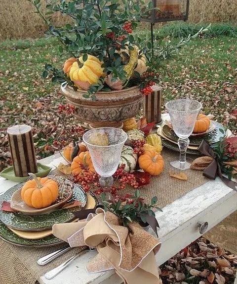 30 Outdoor Thanksgiving Dinner Dcor Ideas DigsDigs