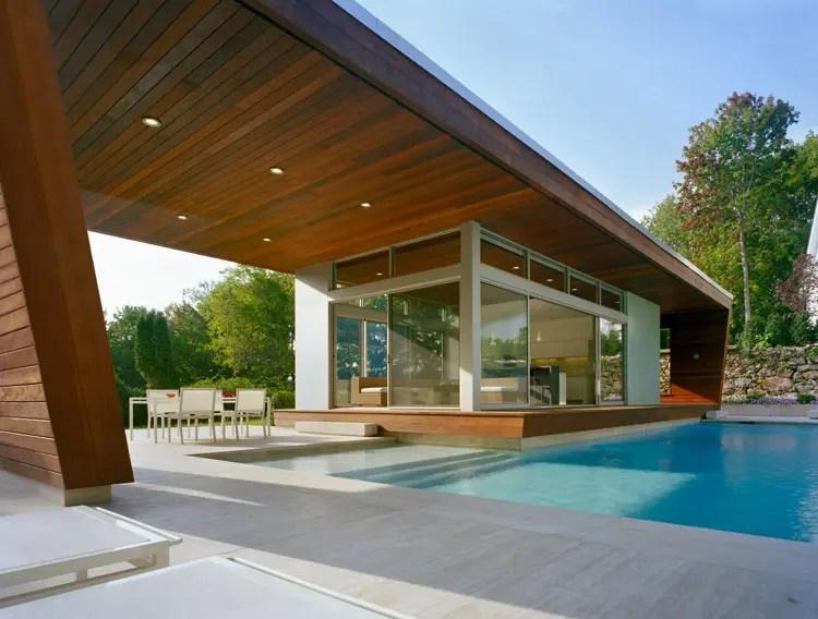 Outstanding Swimming Pool House Design by Hariri  Hariri Architecture  DigsDigs