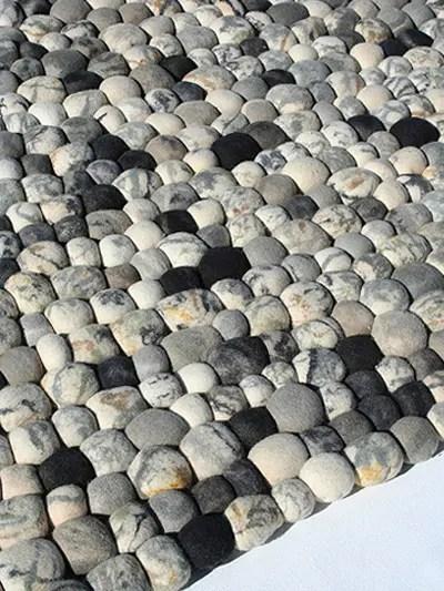 Faux Pebble Rug Made Of Wool  DigsDigs