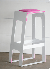 Pink Minimalist Bar Stool For Those Who In Love With