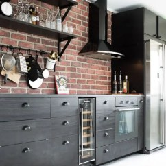 Kitchen Back Splashes Cabinet Supplies 30 Super Practical And Really Stylish Brick ...