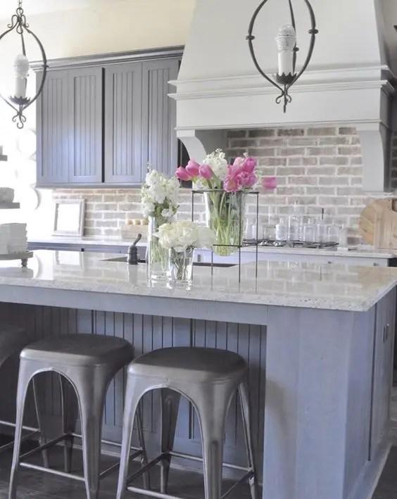 brick kitchen backsplash home remodeling 30 super practical and really stylish backsplashes