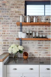 30 Super Practical And Really Stylish Brick Kitchen ...