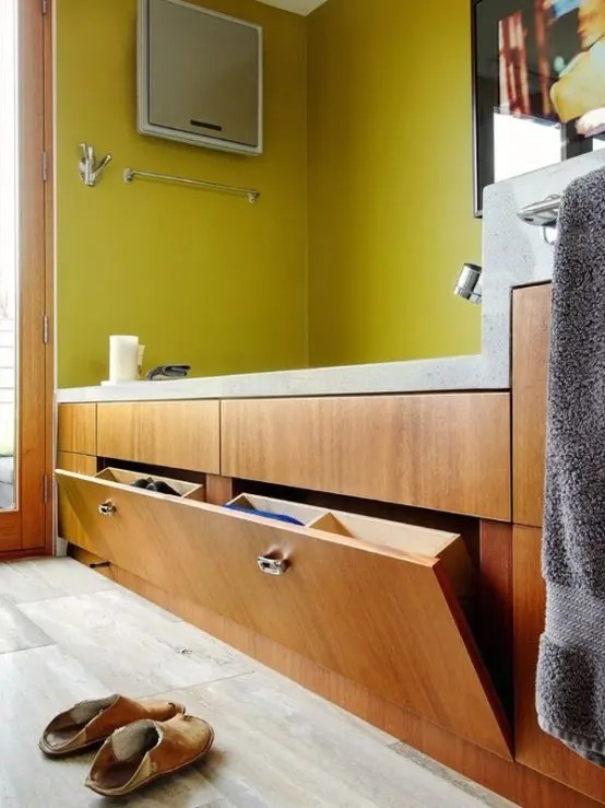 floating kitchen cabinets island small 73 practical bathroom storage ideas - digsdigs