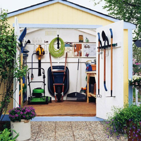 practical garden shed storage