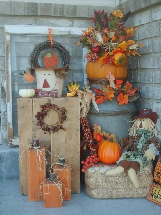 Natural Elements Added Into Fall Decorating Array