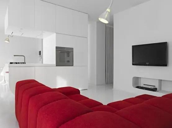 Pure White Futuristic Apartment Space Oddysey