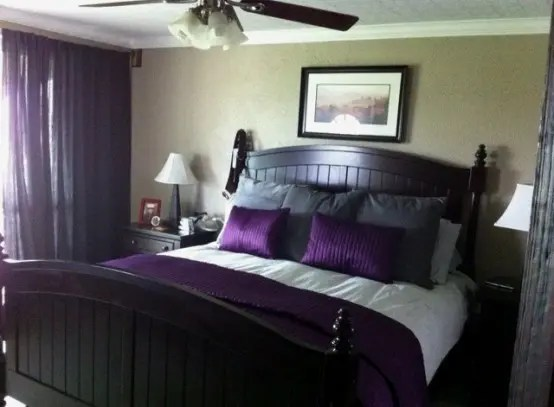 Rather than relying on separate yellow and gray decorative pieces, make your design job a bit easier by finding options that. Purple Accents In Bedrooms – 51 Stylish Ideas - DigsDigs