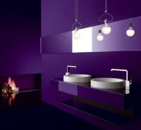33 Cool Purple Bathroom Design Ideas - DigsDigs
