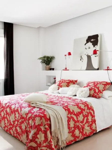 red accent bedroom Red Accents In Bedrooms – 34 Stylish Ideas - DigsDigs