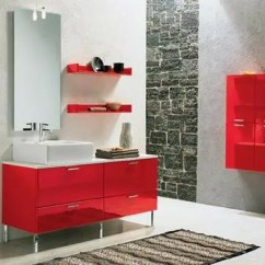 Home Decor Inspiration Living Room Wall Mirror For 39 Cool And Bold Red Bathroom Design Ideas - Digsdigs