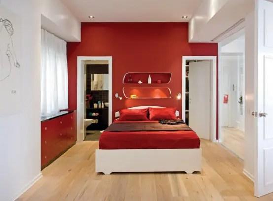 Farbgestaltung Wohnzimmer Rot