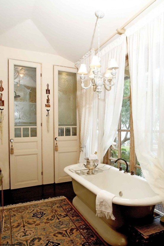 Here are 20 tips to help make sure your space looks grown up, but still fun and vibrant. 26 Refined Décor Ideas For A Vintage Bathroom - DigsDigs