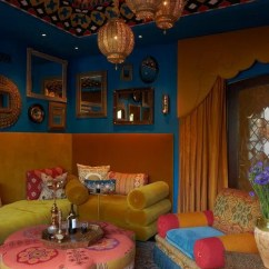 Moroccan Style Living Room Decor Photos Of Rooms 51 Relaxing Digsdigs A Super Bright With All Things Morocco Adorable Lanterns And Upholstered Furniture