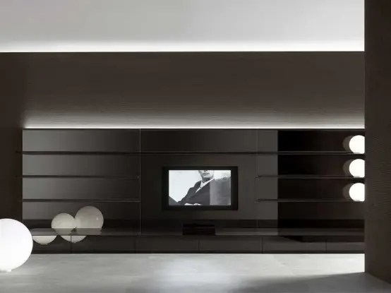 living room tv units light grey ideas completely white and black wall panels ...