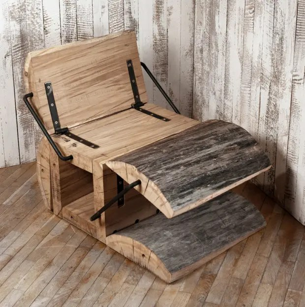 ergonomic chair with footrest superhero bean bag rustic eco-friendly of an oak log | digsdigs