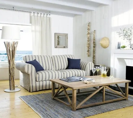 beach inspired living rooms room blinds ideas 37 sea and digsdigs