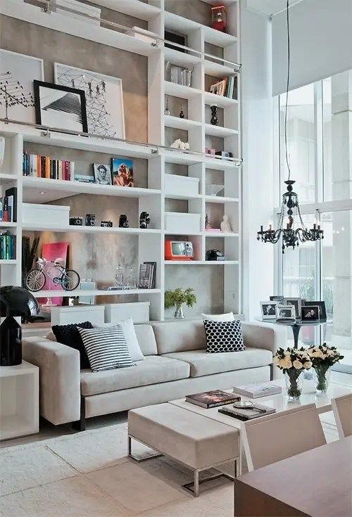 storage for living room wall color combination 60 simple but smart ideas digsdigs floor to ceiling shelf units aren t that practical in terms of provide