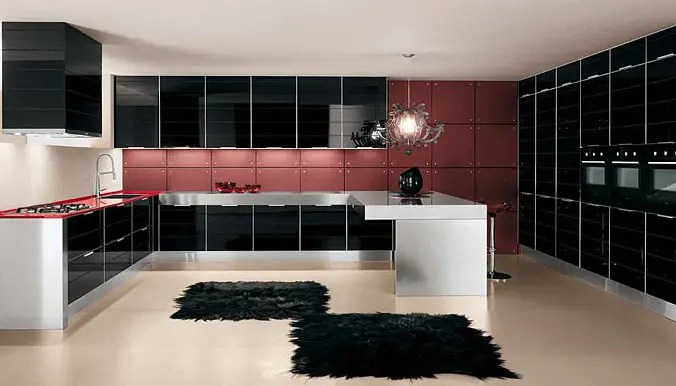 Ultra Glossy and Sleek Kitchen Design  Crystallo from Arrex  DigsDigs