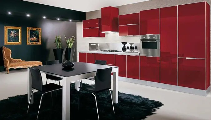 Ultra Glossy and Sleek Kitchen Design  Crystallo from