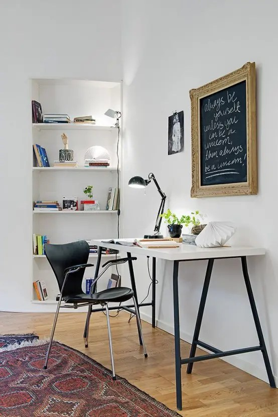 32 Smart Chalkboard Home Office Dcor Ideas  DigsDigs