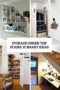 Storage Under The Stairs: 31 Smart Ideas
