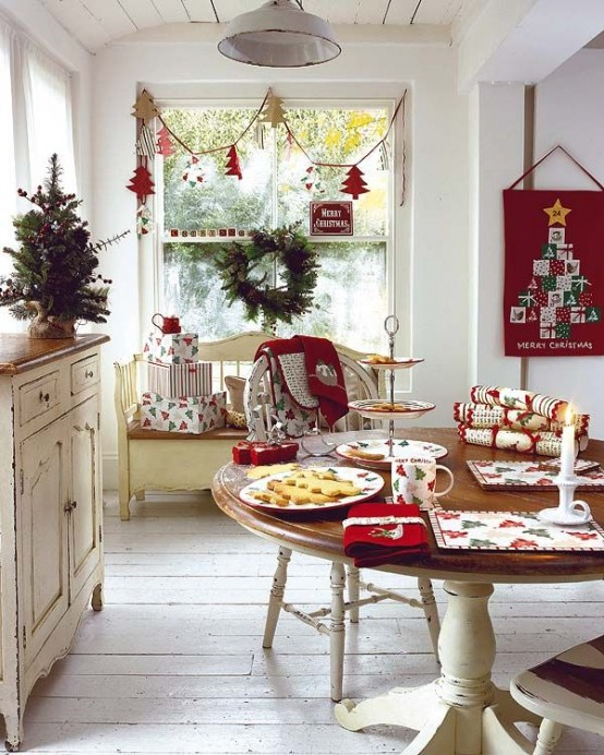 37 Stunning Christmas Dining Room Decor Ideas Digsdigs