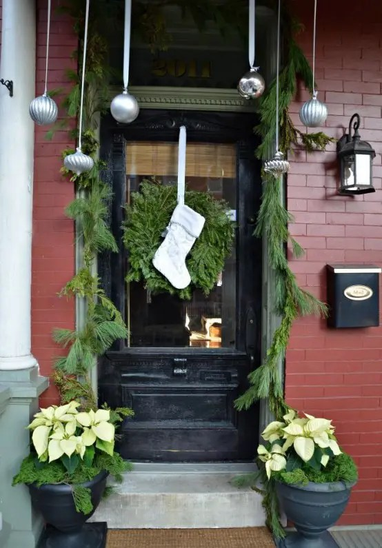 57 Stunning Christmas Front Door D 233 Cor Ideas Digsdigs