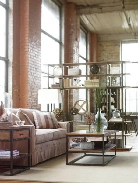 industrial design living room furniture 53 Stylish And Inspiring Industrial Living Room Designs - DigsDigs