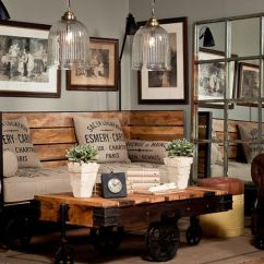 Industrial Living Room Furniture Country Swag Curtains For 30 Stylish And Inspiring Designs Digsdigs
