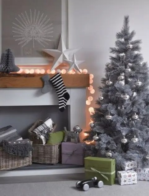 Image result for christmas tree grey