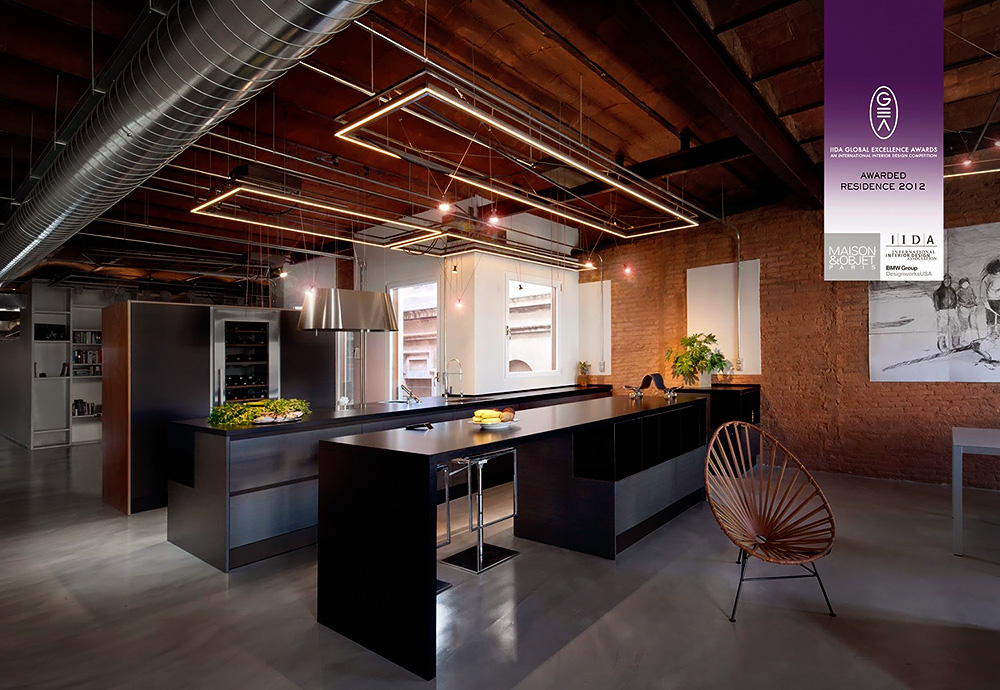 Stylish Dark Kitchen Design With Industrial Touches  DigsDigs