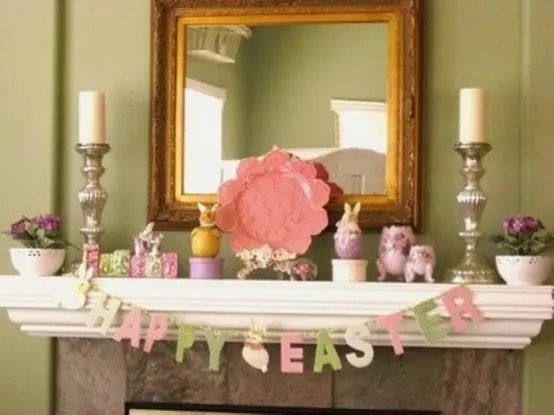Rustic Fall Wallpaper 43 Stylish Easter Mantel Decorating Ideas Digsdigs