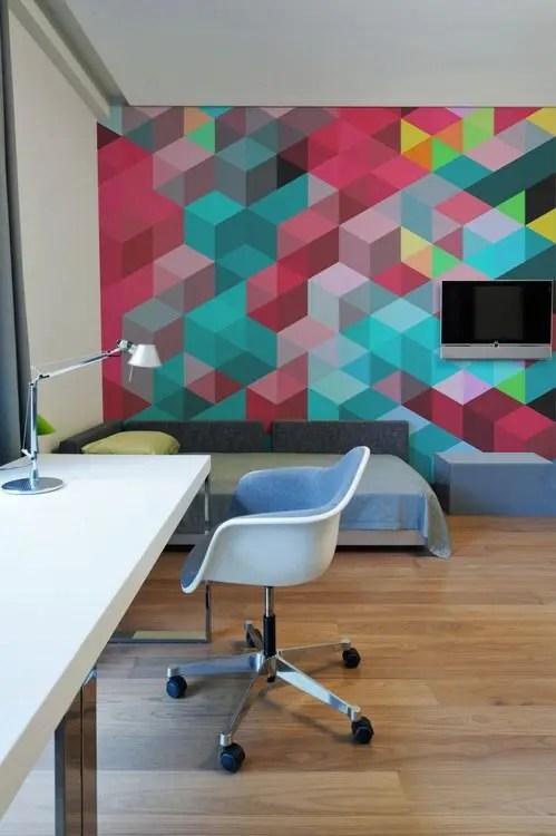 24 Stylish Geometric Wall Dcor Ideas  DigsDigs