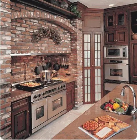 brick wall kitchen ideas 74 Stylish Kitchens With Brick Walls and Ceilings - DigsDigs