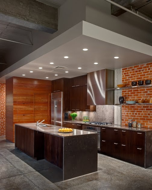 95 Stylish Kitchens With Brick Walls And Ceilings Digsdigs