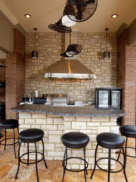 kitchen wall decor ideas rustic tables 74 stylish kitchens with brick walls and ceilings - digsdigs