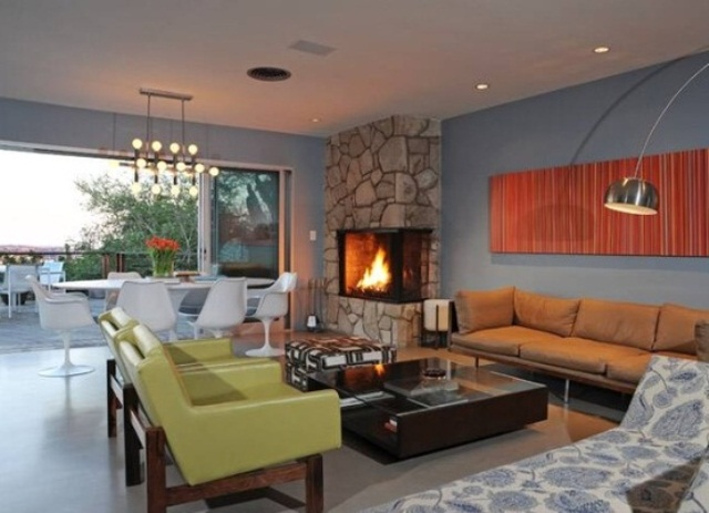 color schemes for living room with brown furniture ceiling fan in yes or no 79 stylish mid-century design ideas | digsdigs