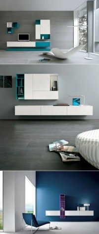 32 Stylish Modern Wall Units For Effective Storage - DigsDigs