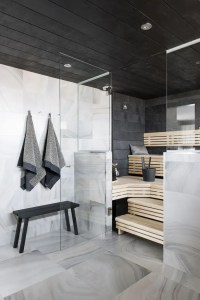 A Bit Of Luxury: 35 Stylish Steam Rooms For Homes | DigsDigs