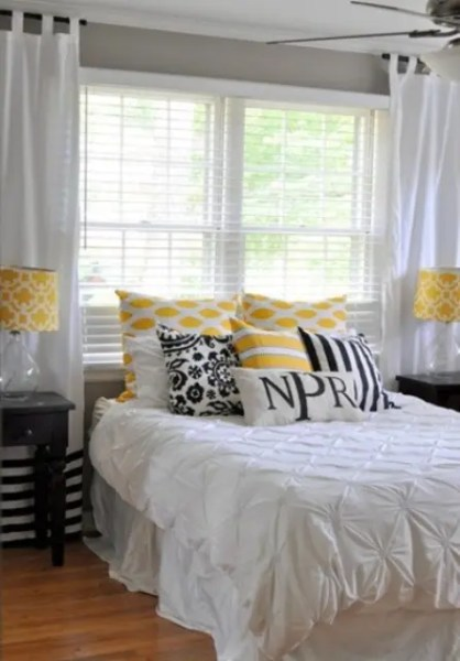 yellow and gray accent bedroom Sunny Yellow Accents In Bedrooms – 49 Stylish Ideas - DigsDigs