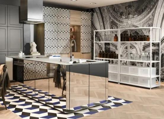 Super Modern Patterned Loft Kitchen Designs By Neo  DigsDigs