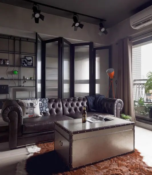 SuperheroInspired Apartment With Industrial Touches