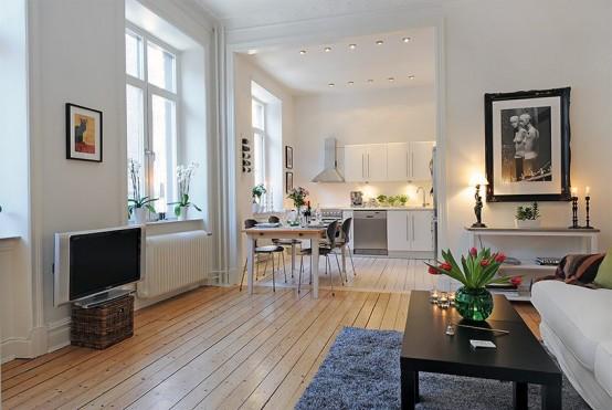 Swedish 58 Square Meter Apartment Interior Design with