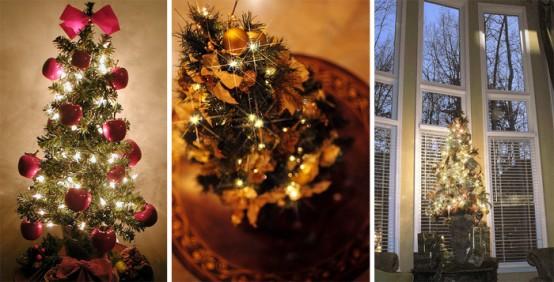41 Beautiful Tabletop Christmas Trees