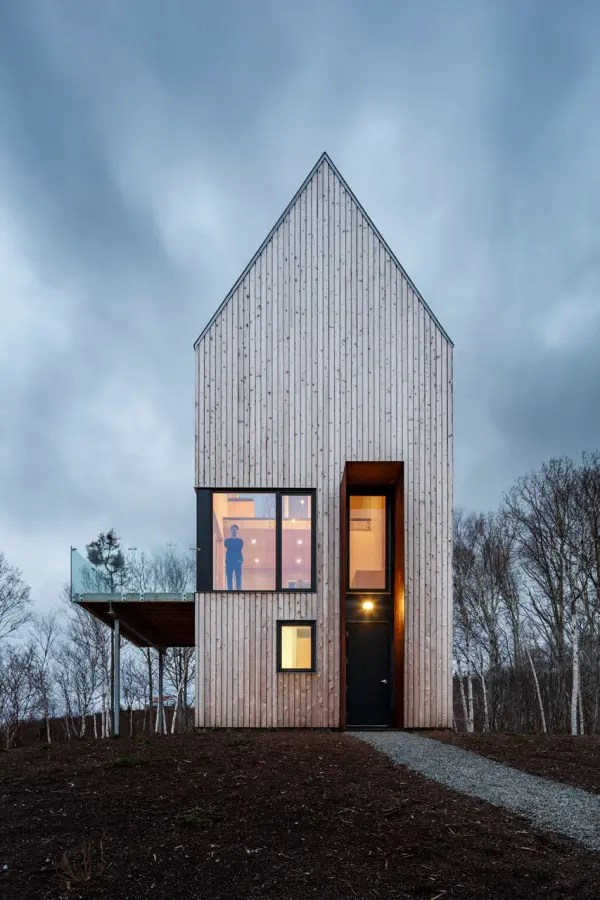 Tall And Narrow Wooden Cabin House In Nova Scotia  DigsDigs