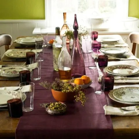 Fall Outdoor Decorations Wallpaper 25 Thanksgiving D 233 Cor Ideas In Dramatic Purple Digsdigs