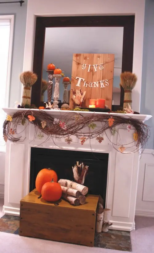 40 Thanksgiving Mantelpiece Dcor Ideas  DigsDigs